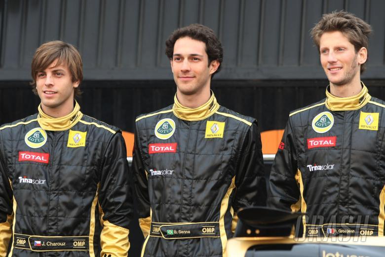 31.01.2011 Valencia, Spain, Jan Charouz (CZE), test driver, Lotus Renault GP, Bruno Senna (BRA), te