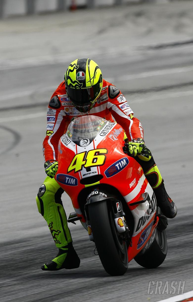 Rossi, Sepang MotoGP tests, 1-3 February 2011