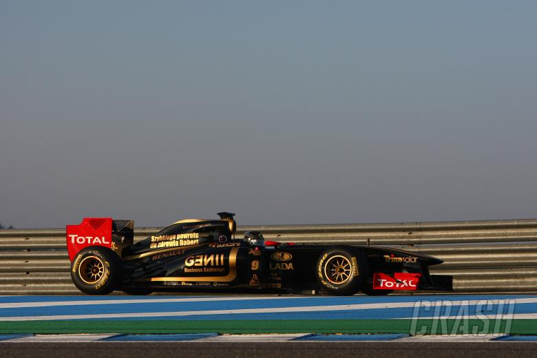 12.02.2011- Nick Heidfeld (GER), Testing for Lotus Renault GP