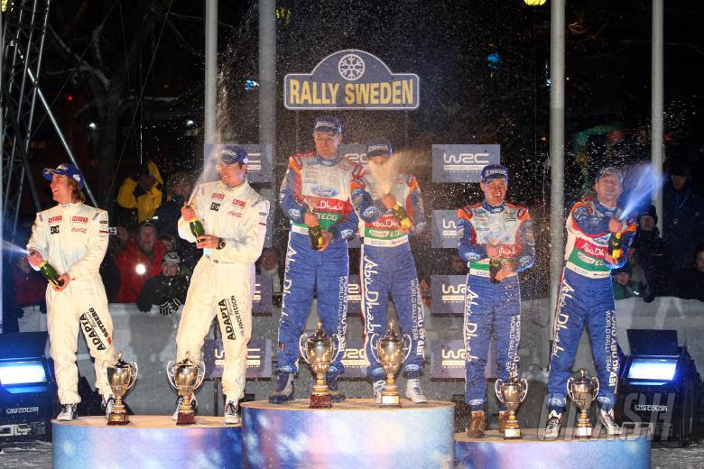 Podium Rally Sweden,