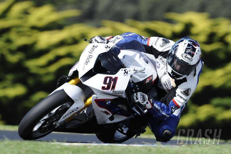 Haslam, Australian WSBK Test 21-22 Feb 2011