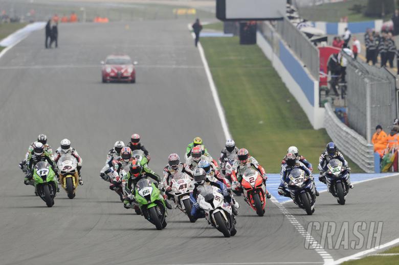 Haslam, Race Start, Donington WSBK Race 2 2011