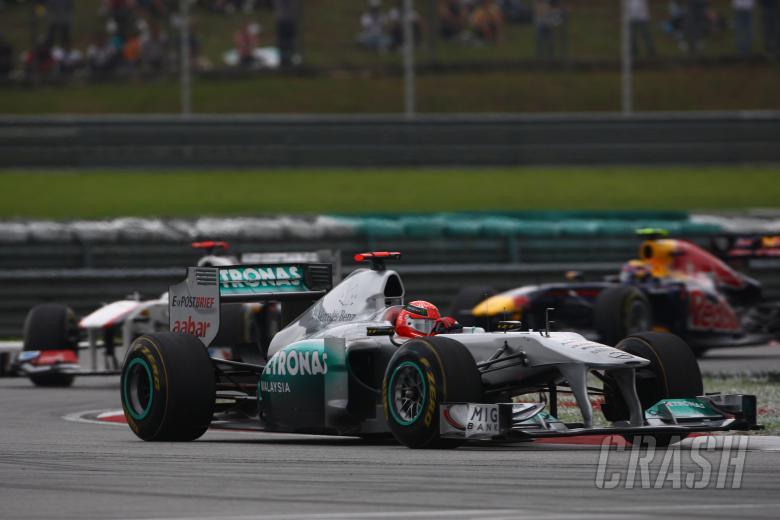 10.04.2011- Race, Michael Schumacher (GER), Mercedes GP Petronas F1 Team, MGP W02