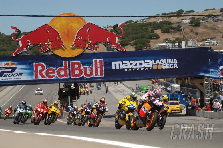 Race start, US MotoGP Race 2005