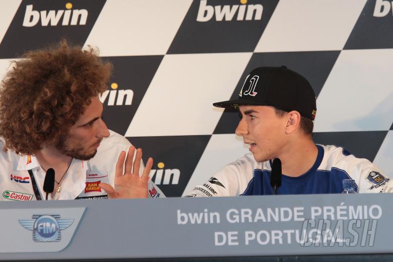 , - Simoncelli and Lorenzo, Portuguese MotoGP 2011