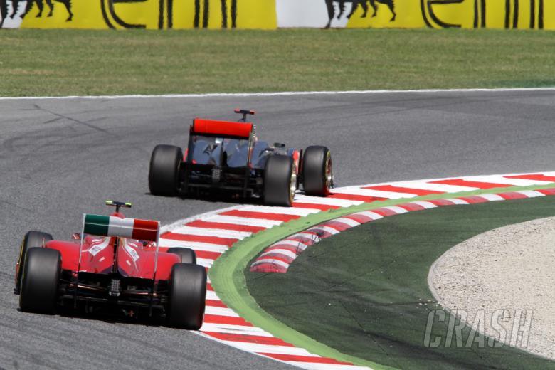 21.05.2011- Saturday Practice, Felipe Massa (BRA), Scuderia Ferrari, F-150 Italia and Lewis Hamilton