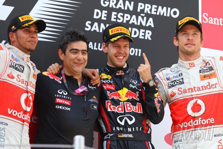 22.05.2011- Race, Sebastian Vettel (GER), Red Bull Racing, RB7 race winner, Lewis Hamilton (GBR), Mc