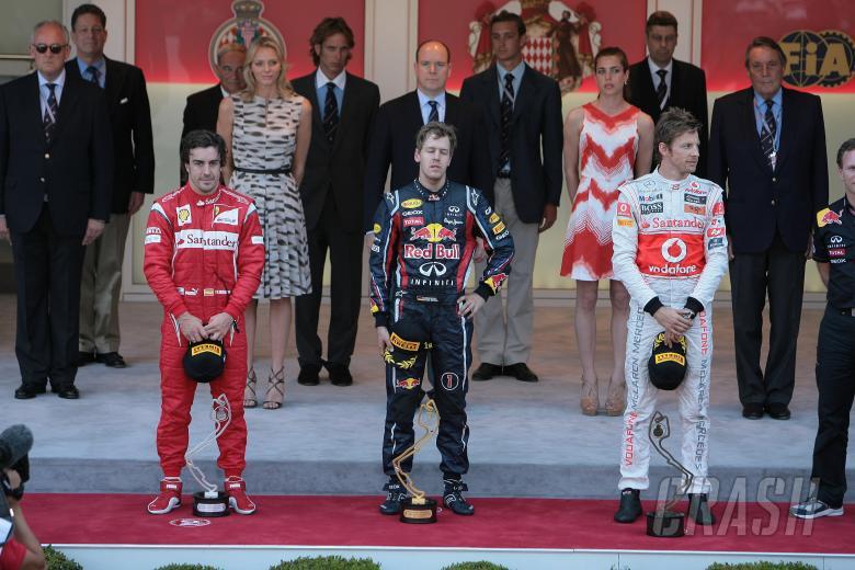 29.05.2011- Race, Sebastian Vettel (GER), Red Bull Racing, RB7 race winner, Fernando Alonso (ESP), S