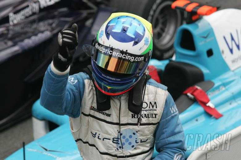 , - Race winner Olivier Pla celebrates his second GP2 success at Hockenheim