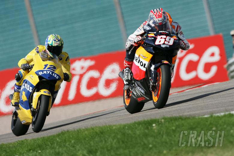 Hayden and Bayliss, German MotoGP, 2005