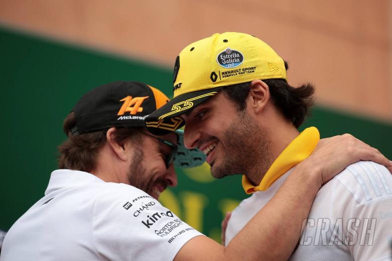 27.05.2018 - Fernando Alonso (ESP) McLaren MCL33 and Carlos Sainz Jr (ESP) Renault Sport F1 Team RS18