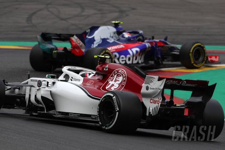 24.08.2018 - Free Practice 2, Charles Leclerc (MON) Sauber C37 and Pierre Gasly (FRA) Scuderia Toro Rosso STR13