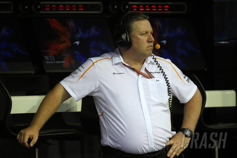 15.09.2018 - Free Practice 3, Zak Brown (USA) McLaren Executive Director