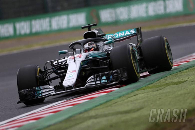 Hamilton surprised by 0.8s gap to Ferrari in Japan practice