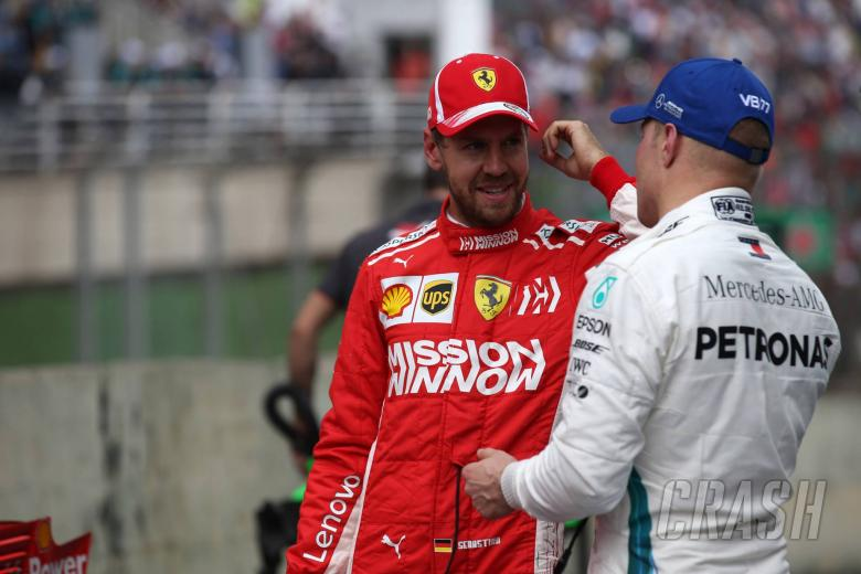 210.11.2018 - Qualifying, 2nd place Sebastian Vettel (GER) Scuderia Ferrari SF71H and 3rd place Valtteri Bottas (FIN) Mercedes AMG F1 W09
