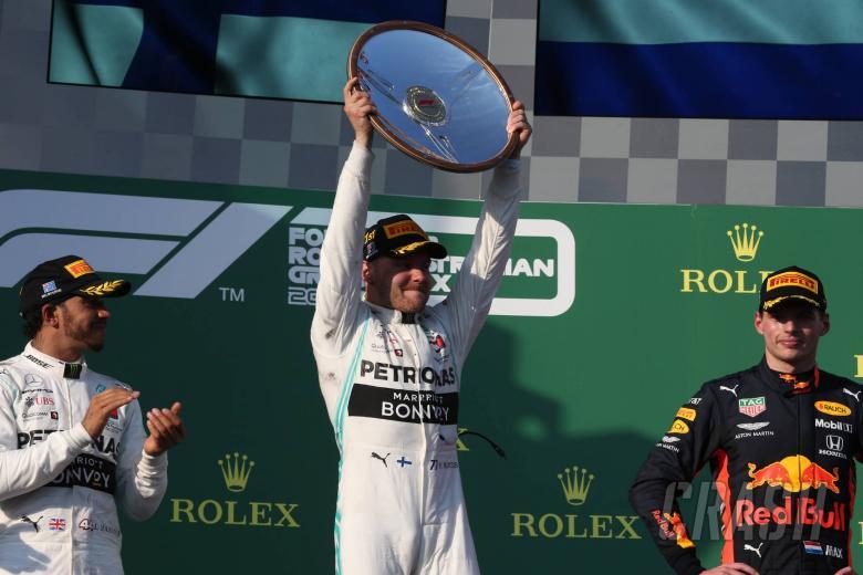 17.03.2019- Podium, winner Valtteri Bottas (FIN) Mercedes AMG F1 W10 EQ Power, 2nd place Lewis Hamilton (GBR) Mercedes AMG F1 W10 EQ Power, 3rd place Max Verstappen (NED) Red Bull Racing RB15