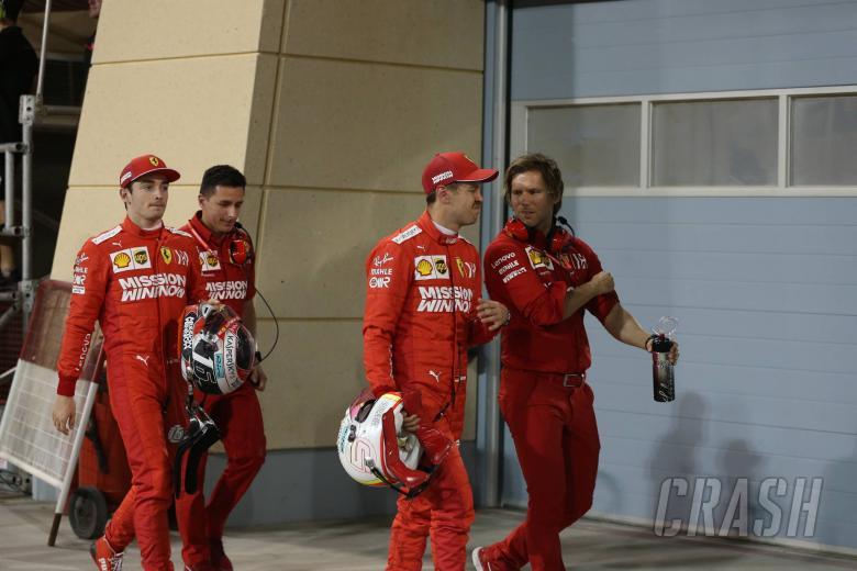 30.03.2019- Qualifying Parc ferme Sebastian Vettel (GER) Scuderia Ferrari SF90 and Charles Leclerc (MON) Scuderia Ferrari SF90