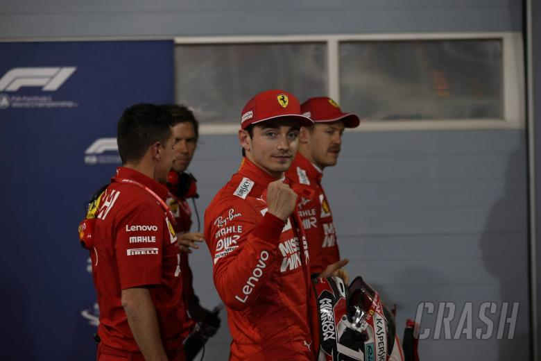 30.03.2019- Parc ferme, Charles Leclerc (MON) Scuderia Ferrari SF90