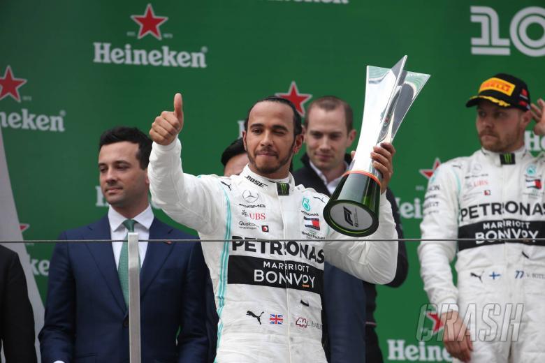 14.04.2019- Podium, winner Lewis Hamilton (GBR) Mercedes AMG F1 W10 EQ Power