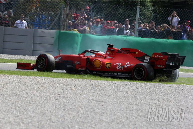 08.09.2019 - Race, Sebastian Vettel (GER) Scuderia Ferrari SF90 spins