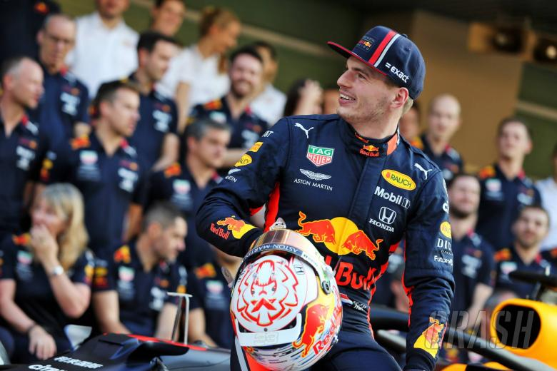 Max Verstappen (NLD) Red Bull Racing at a team photograph. 28.11.2019.