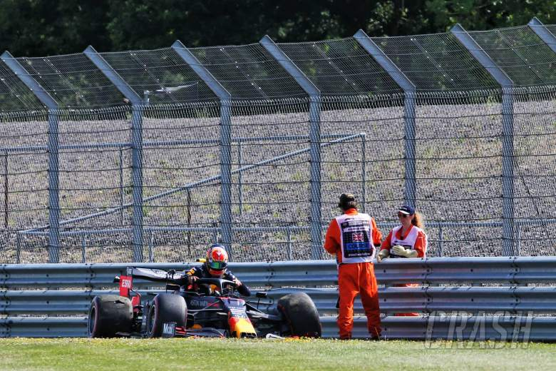 Alexander Albon (THA) Red Bull Racing RB16 crashed in the second practice session.