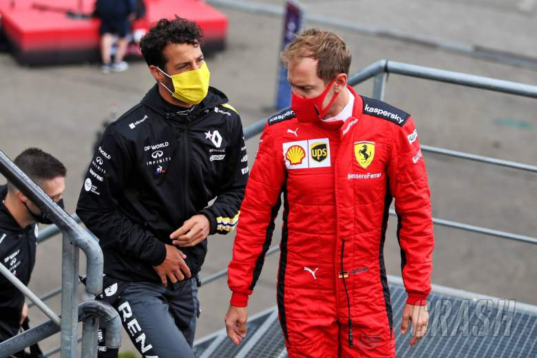 Ricciardo and Vettel won't get two-year-old F1 car test before 2021