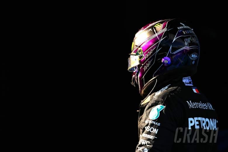 Lewis Hamilton (GBR) Mercedes AMG F1 in qualifying parc ferme.