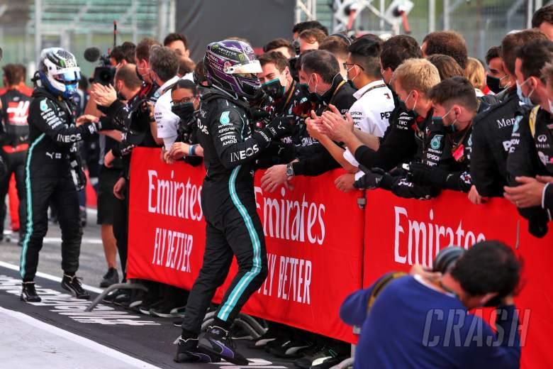 Lewis Hamilton wins Emilia Romagna GP as Mercedes win constructors' title
