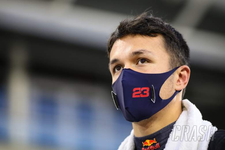 Alexander Albon (THA) Red Bull Racing on the grid.