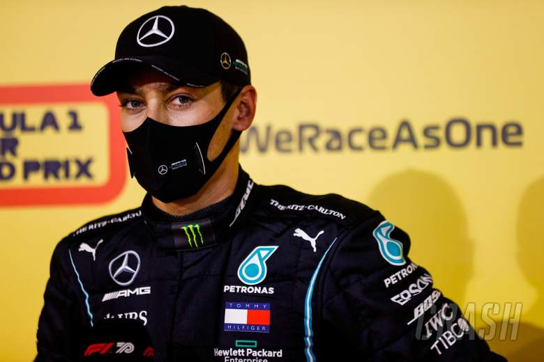 George Russell (GBR) Mercedes AMG F1 in qualifying parc ferme.