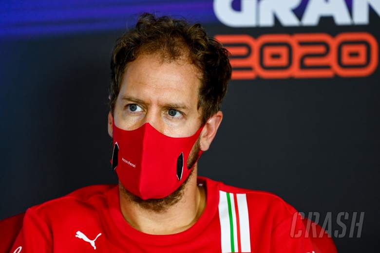 Sebastian Vettel (GER) Ferrari in the FIA Press Conference.