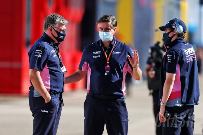Otmar Szafnauer (USA) Racing Point F1 Team Principal and CEO (Left) and Andy Stevenson (GBR) Racing Point F1 Team Manager (Centre).