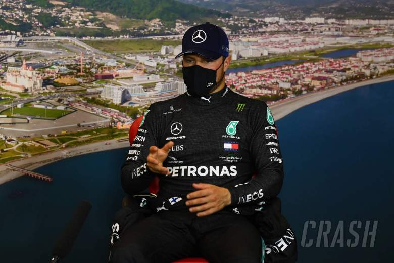 Valtteri Bottas (FIN) Mercedes AMG F1 in the qualifying FIA Press Conference.