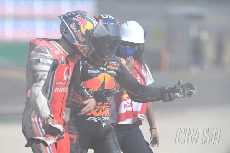 Jack Miller, Brad Binder, Teruel MotoGP race. 25 October 2020