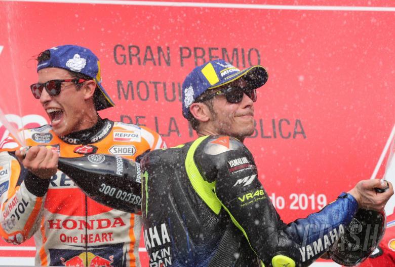 Marquez, Rossi, MotoGP race. Argentine MotoGP 2019