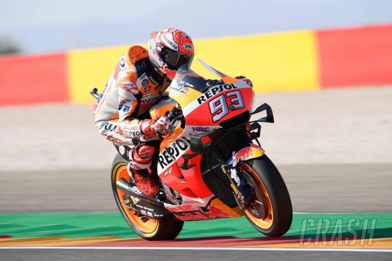 Marquez eases to Aragon MotoGP pole position