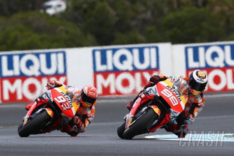 Marquez clips 'slow mode' team-mate Lorenzo