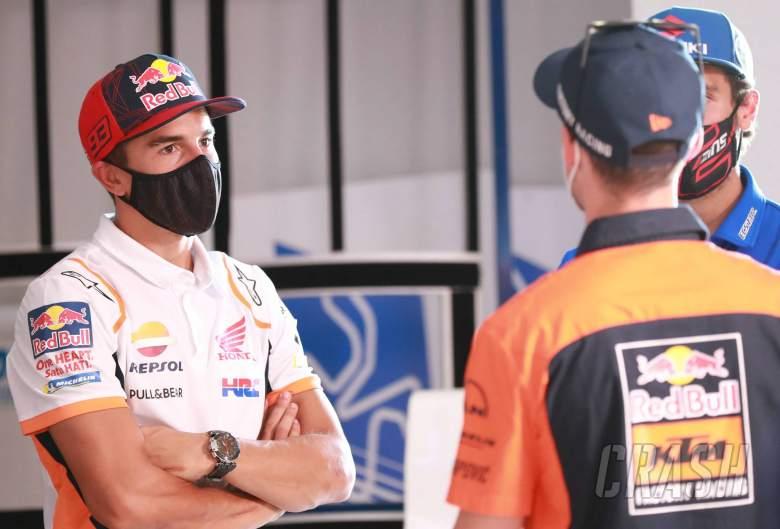 Marc Marquez, Pol Espargaro Pre-Event press conference, Spanish MotoGP, 16 July 2020