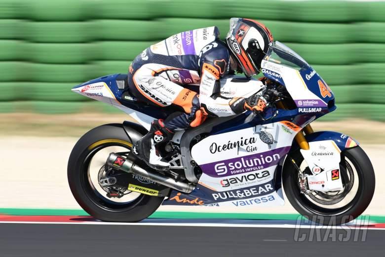 Aron Canet, San Marino Moto2. 12September 2020
