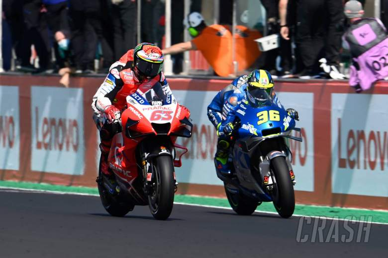 Francesco Bagnaia, Joan Mir, San Marino MotoGP Race. 13 September 2020