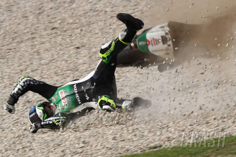 Cal Crutchlow crash, Catalunya MotoGP. 26 September 2020