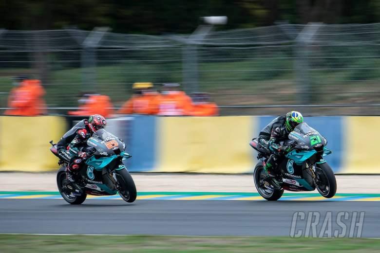 Franco Morbidelli, Fabio Quartararo, French MotoGP. 9 October 2020