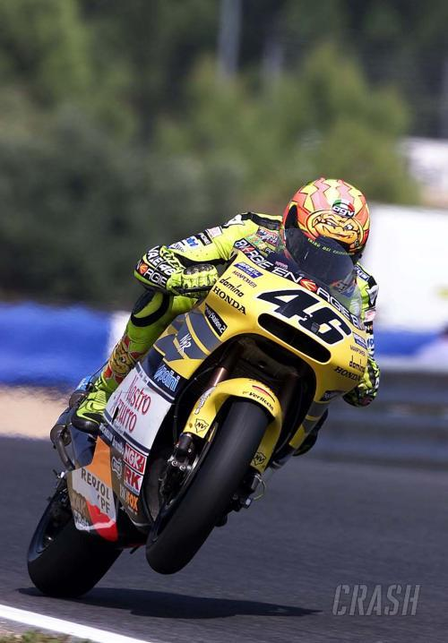Rossi on the brink as Biaggi bounces out.