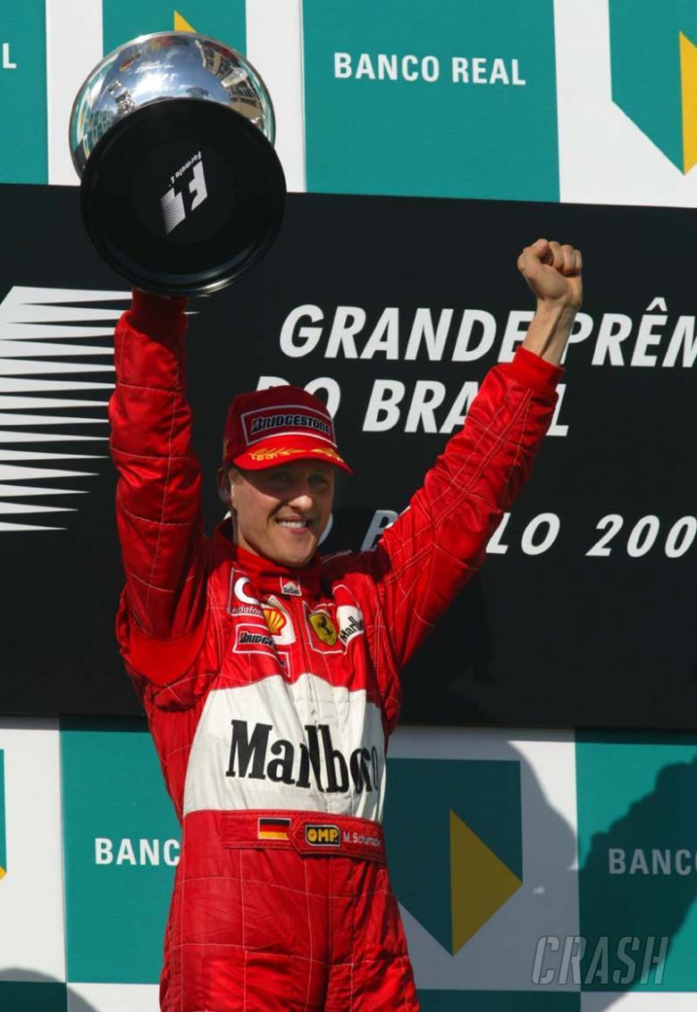 Brazilian GP 2002 - Michael gives F2002 debut win.