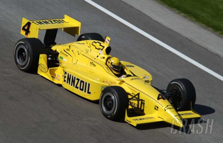 Hornish Jr takes Chicago pole.