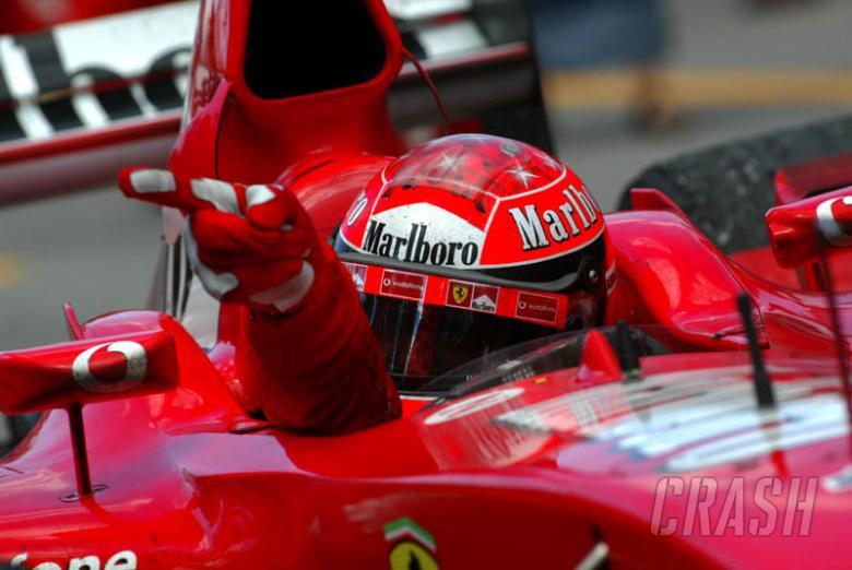 Schumacher racks up Ferrari's 150th win.