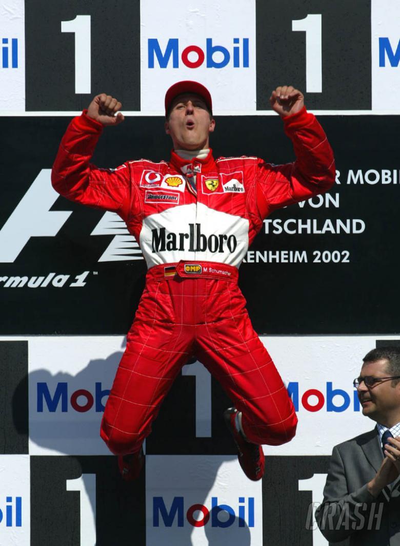 German GP 2002 - Michael completes dream weekend.