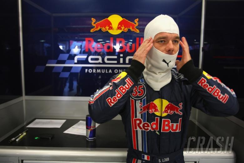 Loeb shines during F1 test with Red Bull.