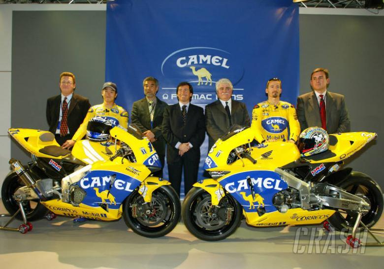 Pramac Pons launch Camel colours.